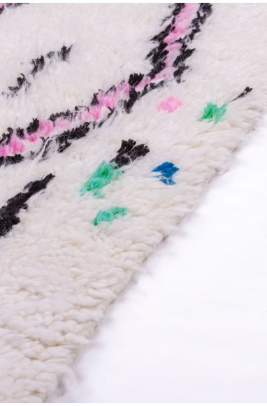Azilal rug White pink and green