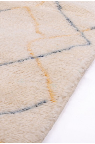 Vintage rug White, beige and gray
