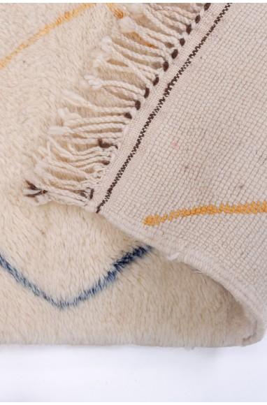 Tapis Vintage Blanc, beige et gris