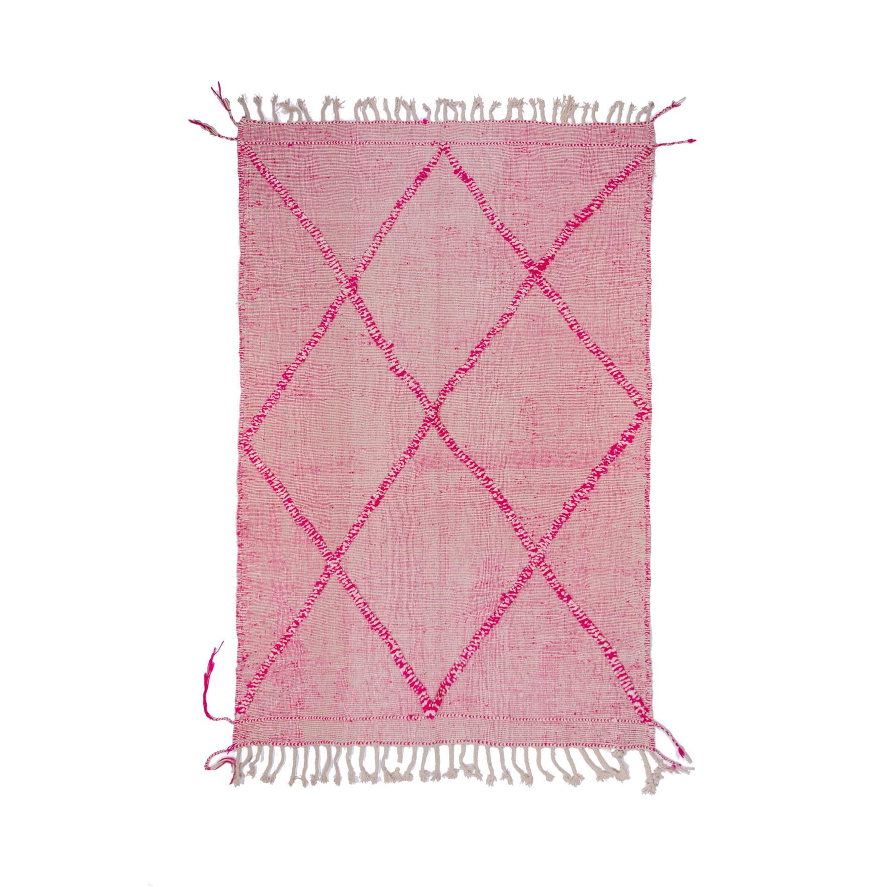 Two-tone pink kilim rug
