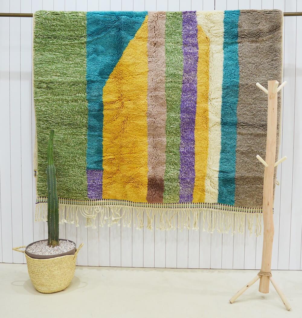 Azilal rug Colored irregular bands