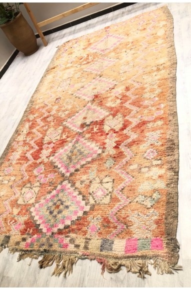 Vintage red, pink and gray carpet
