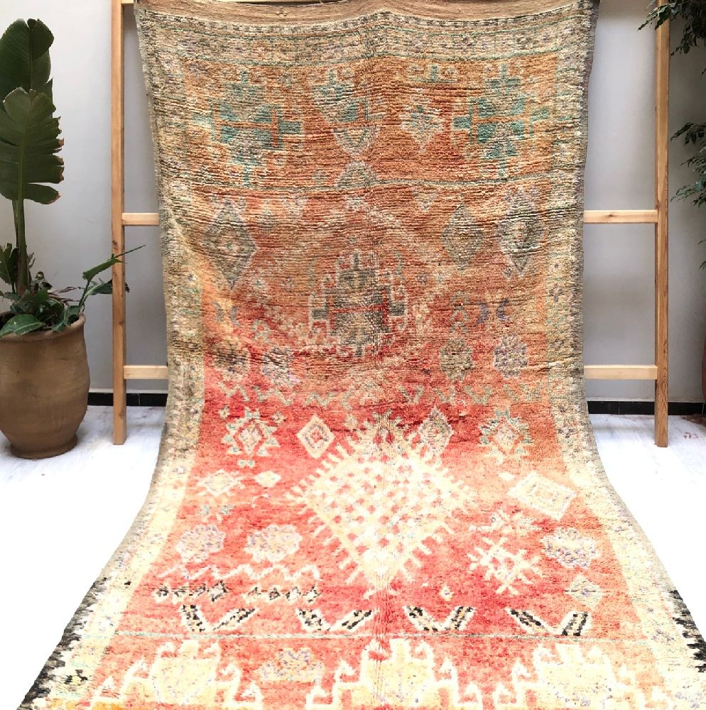 Vintage Rug Rose, Red, Gray and Blue