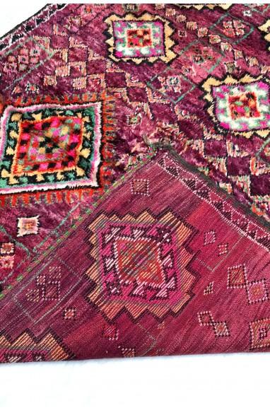 Tapis Vintage Violet rose et vert