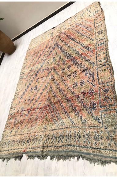 Tapis Vintage laine effilochée