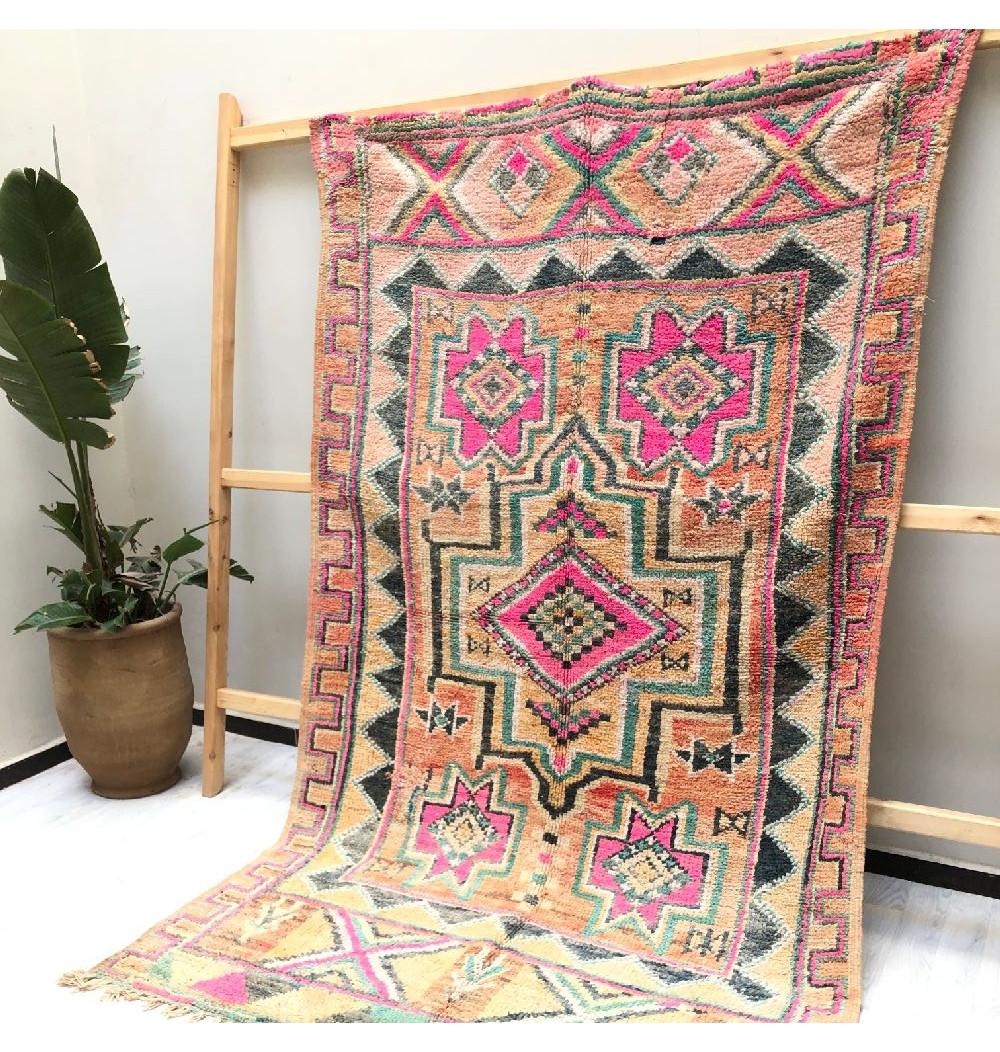 Vintage Ethnic Berber Rug
