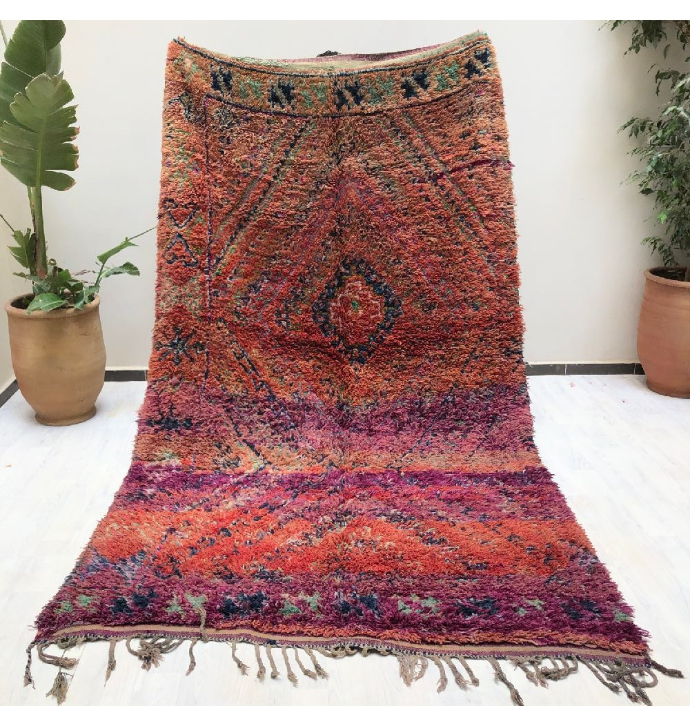 Tapis Vintage rose, orange et violet