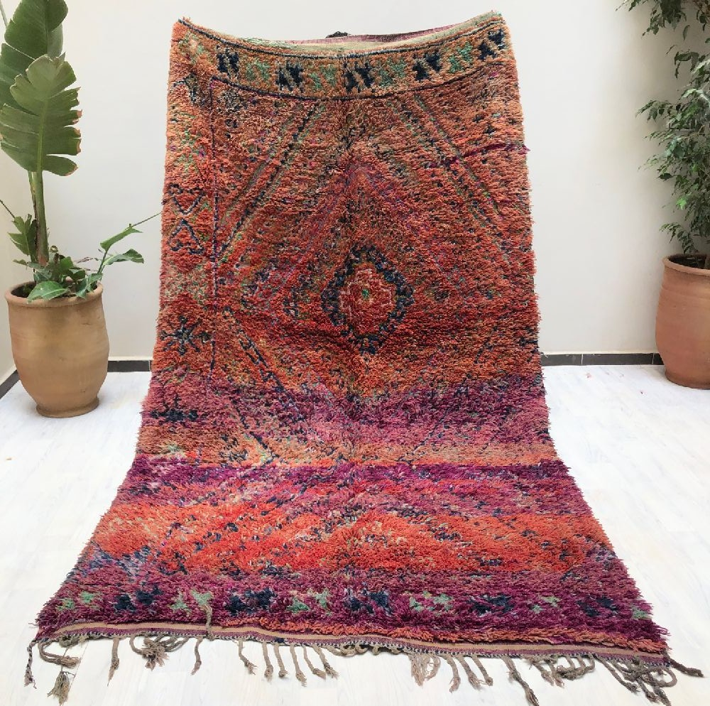 Vintage pink, orange and purple rug