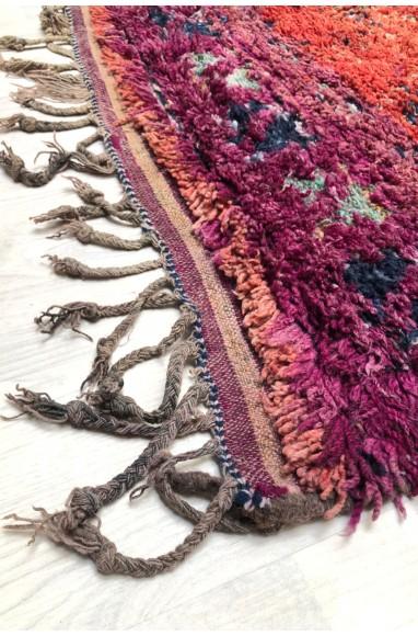 Tapis Vintage rose, orange et violet