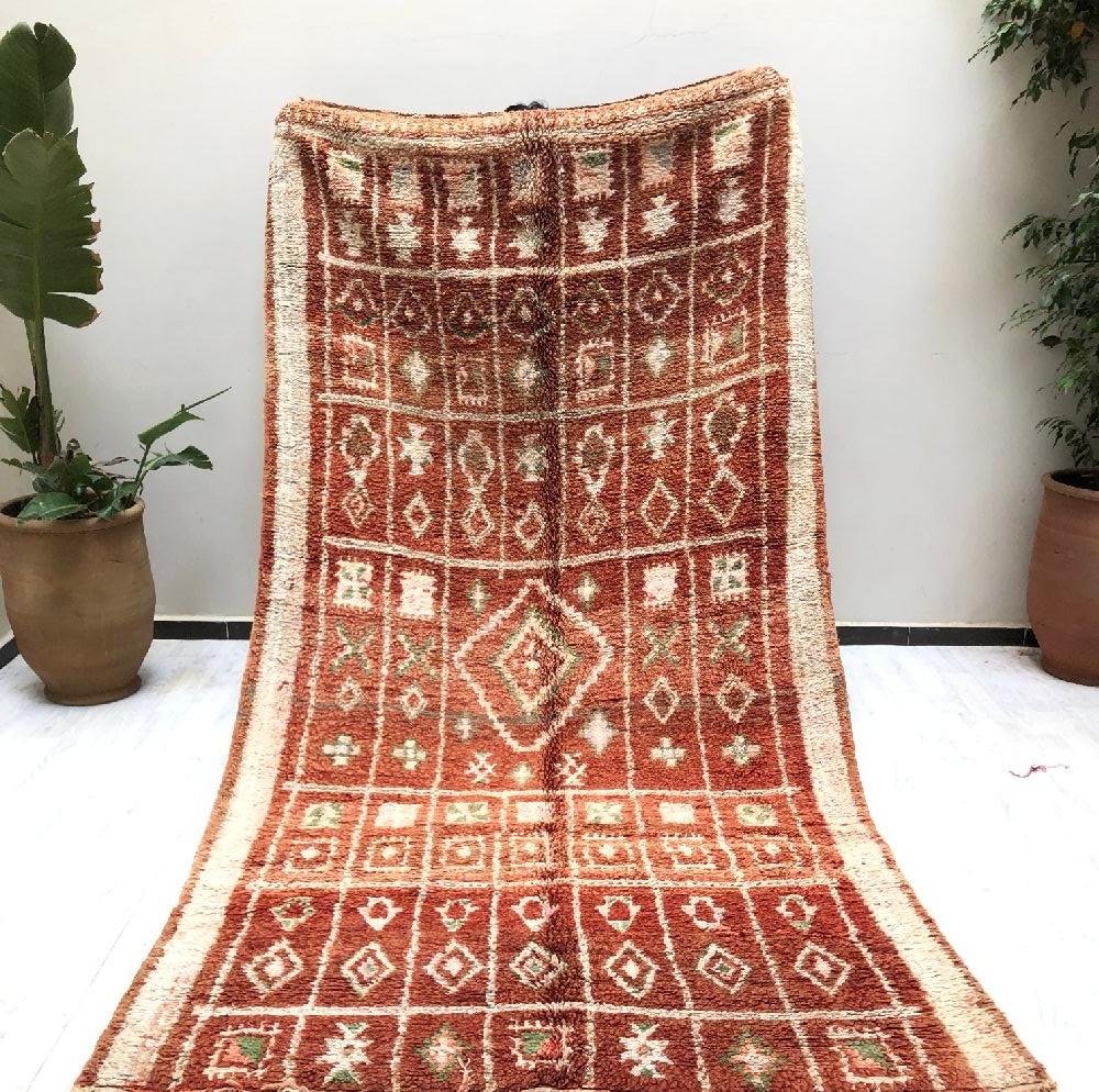 Vintage Berber coding rug