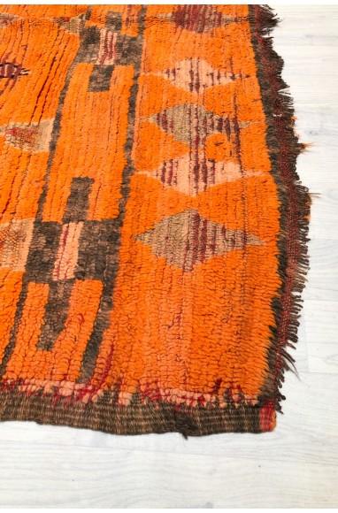 Vintage Rug Orange Red Pink