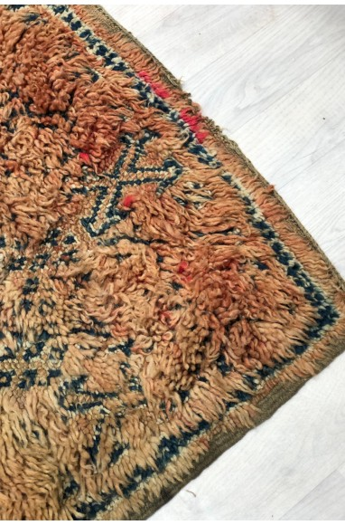 Vintage rug in shades of purple and gray