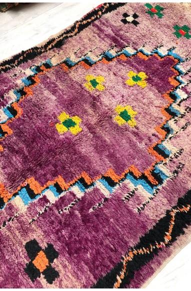 Vintage flower field rug