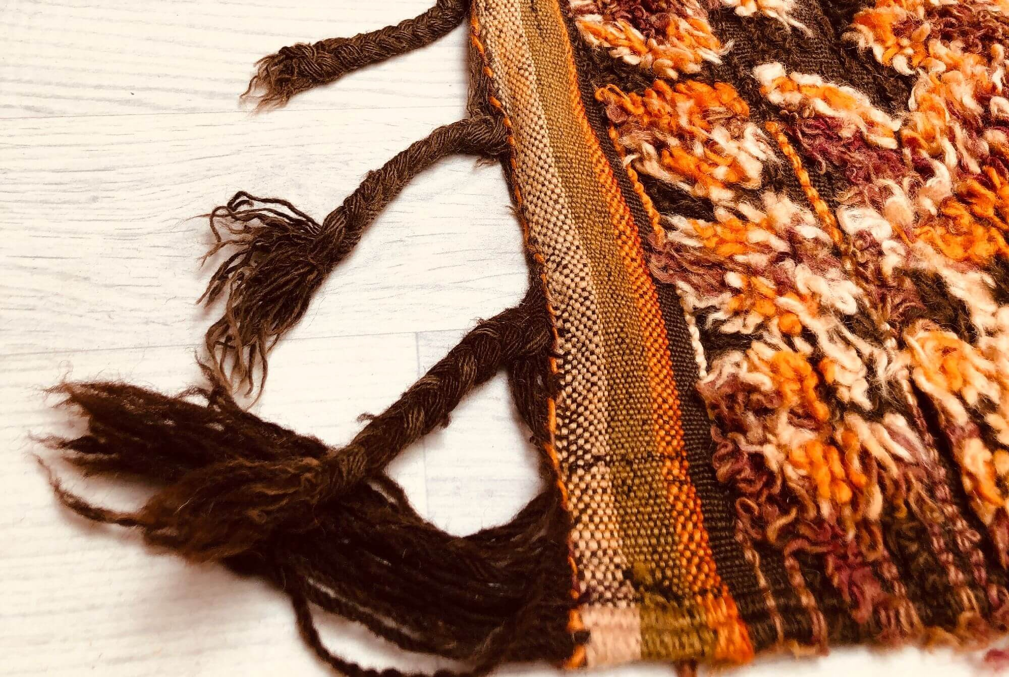 Tapis Vintage Orange violet et marron