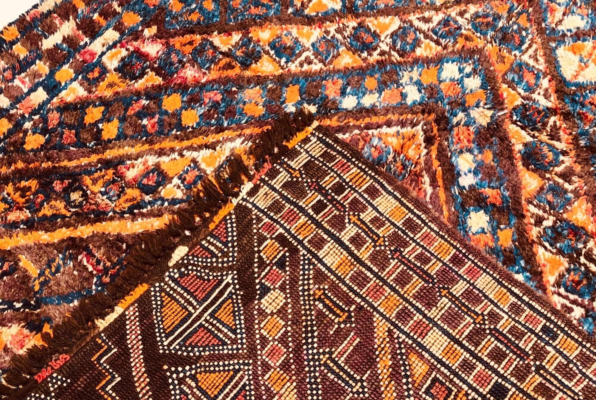Vintage V-weave rug