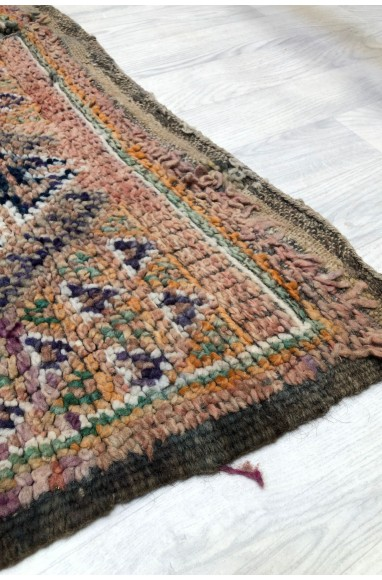 Vintage rug with aged tapestry look