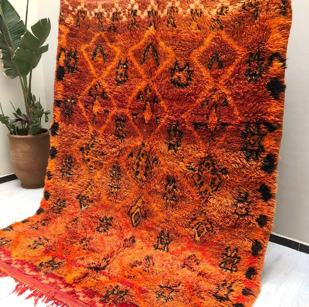 Vintage Rug Orange, Pink and Gray
