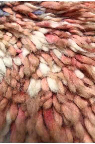 Vintage Rug Medium Shades of Pink and Gray