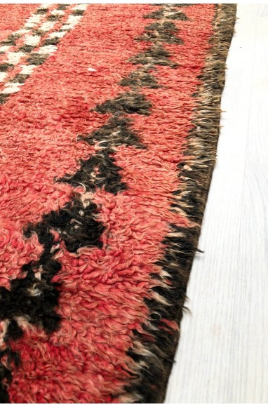 Vintage rug with vertical checkerboard patterns