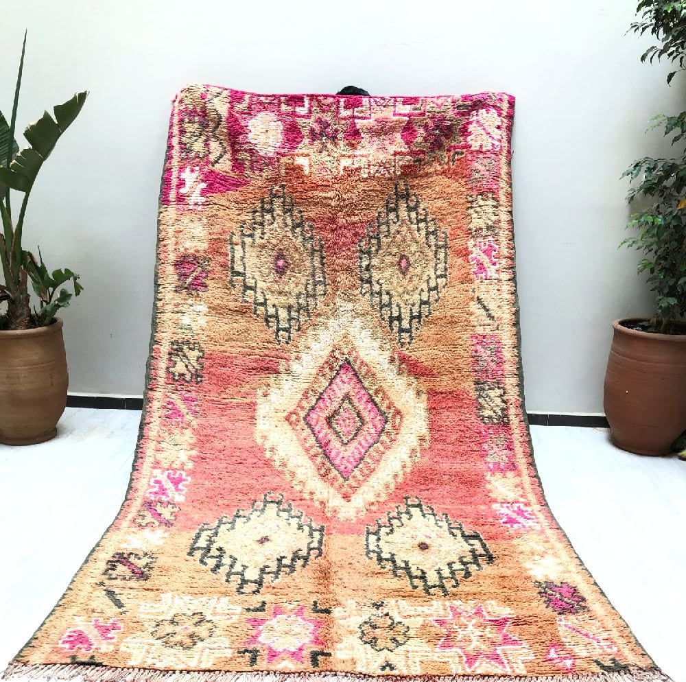 Vintage thick wool rug