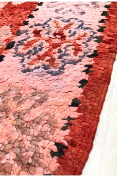 Vintage carpet on kilim weft