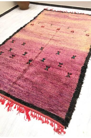 Tapis Vintage laine fine et douce effilochée