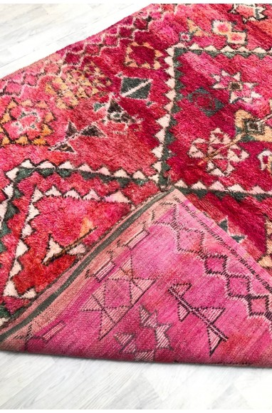 Vintage carpet dominance of various shades of pink