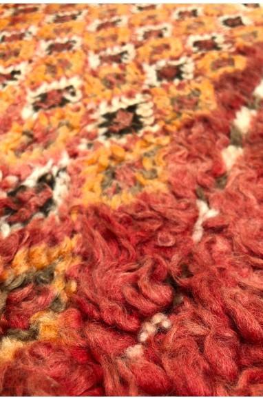 Tapis Vintage mélange de deux laines fines et épaisses