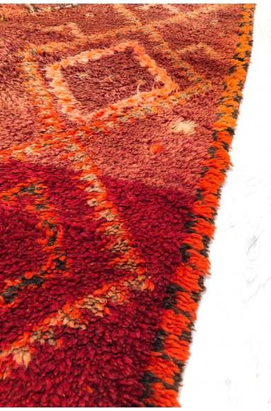 Tapis Vintage allure rustique en rose et marron