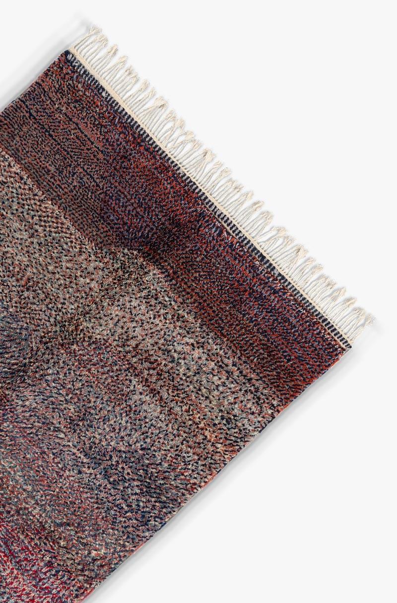 tapis berb re azilal bleu et rouge. Black Bedroom Furniture Sets. Home Design Ideas