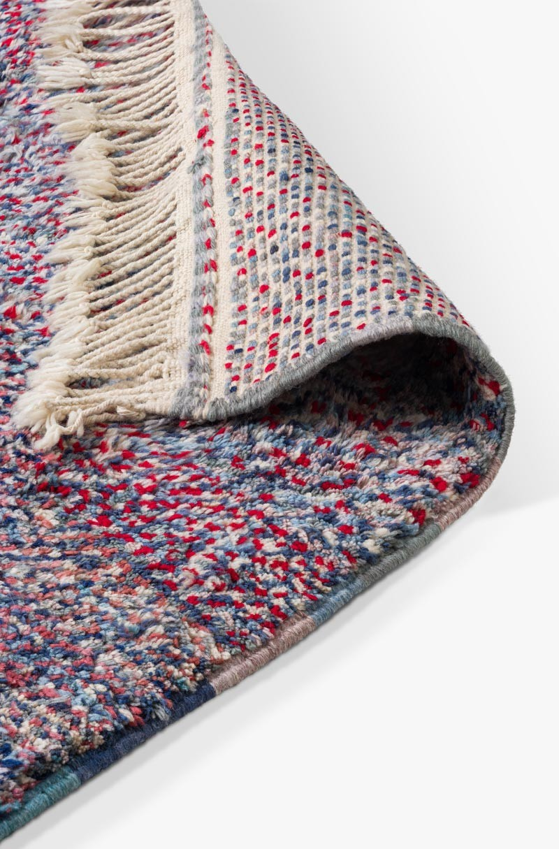 Berber Carpet Azilal Blue And Red