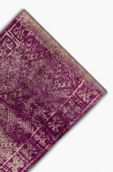 Tapis berbère vintage en laine Prune
