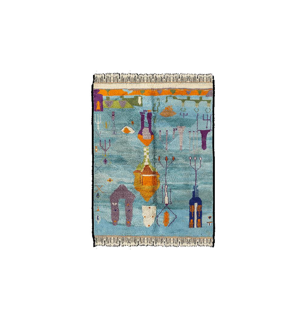 colorful blue berber carpet
