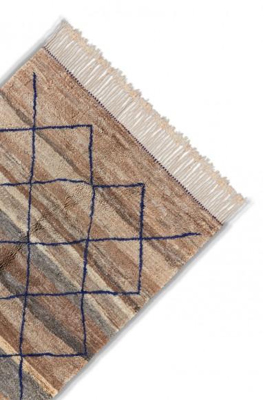 colorful berber carpet with diamonds