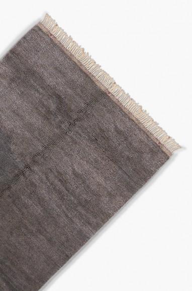 tapis berb re gris en laine tapis berb re uni. Black Bedroom Furniture Sets. Home Design Ideas