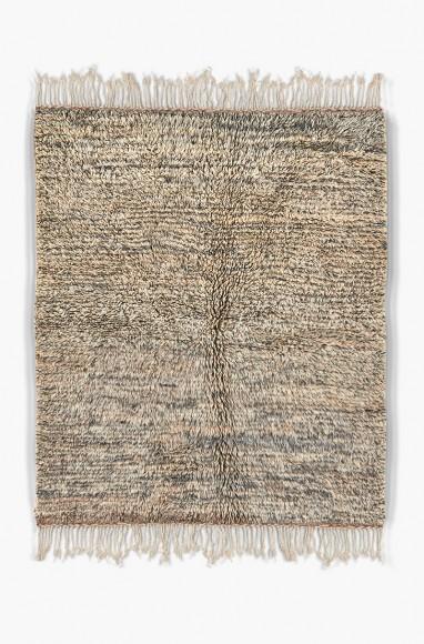Tapis berbère gris clair dégradé en laine