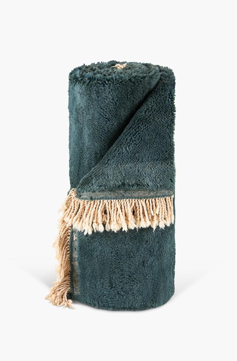 tapis berb re monochrome vert bouteille. Black Bedroom Furniture Sets. Home Design Ideas