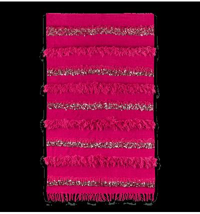 Handira berbère rose en laine