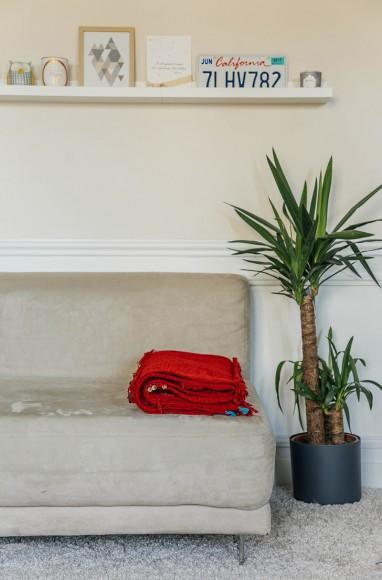 Handira berbère rouge en laine