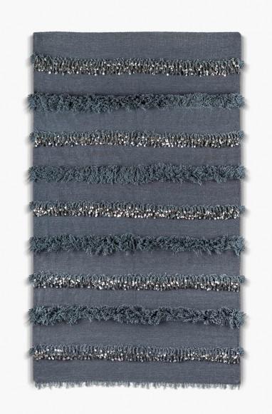 Handira berbère gris en laine
