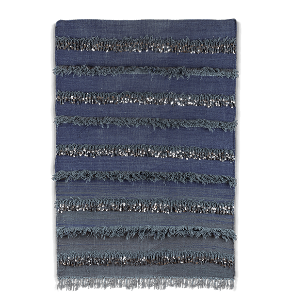 Handira berbère gris degradé en laine