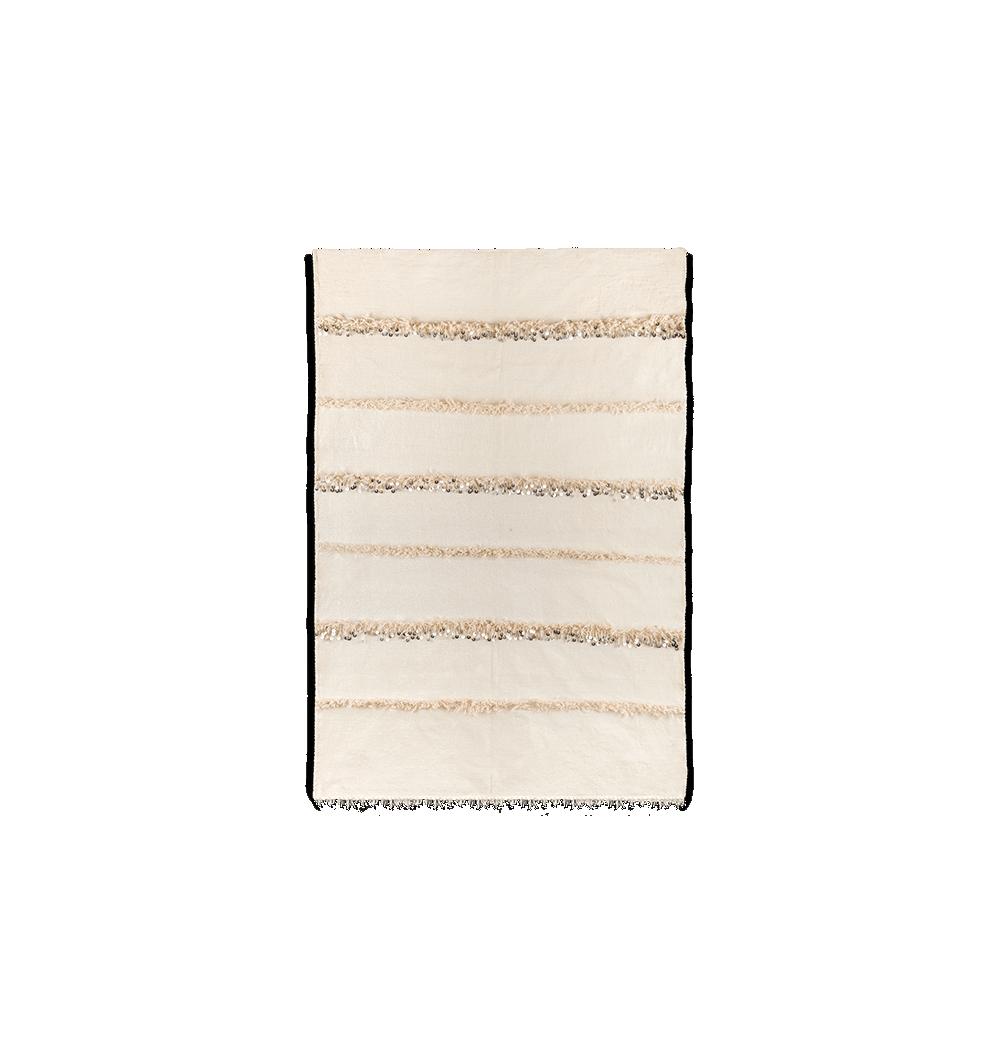 Handira berbère blanc et écru
