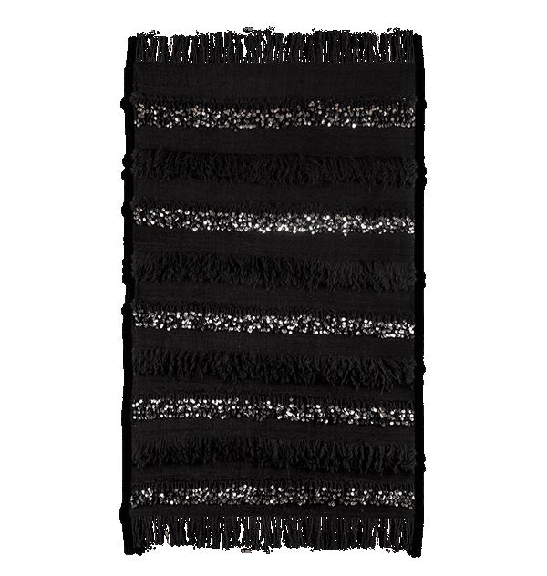 Handira berbère noir en laine