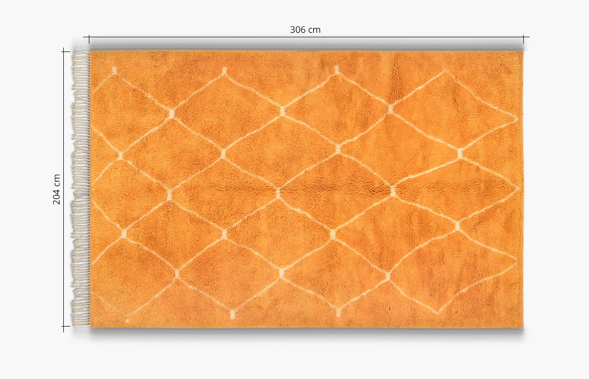 Orange Pop Berber Carpet