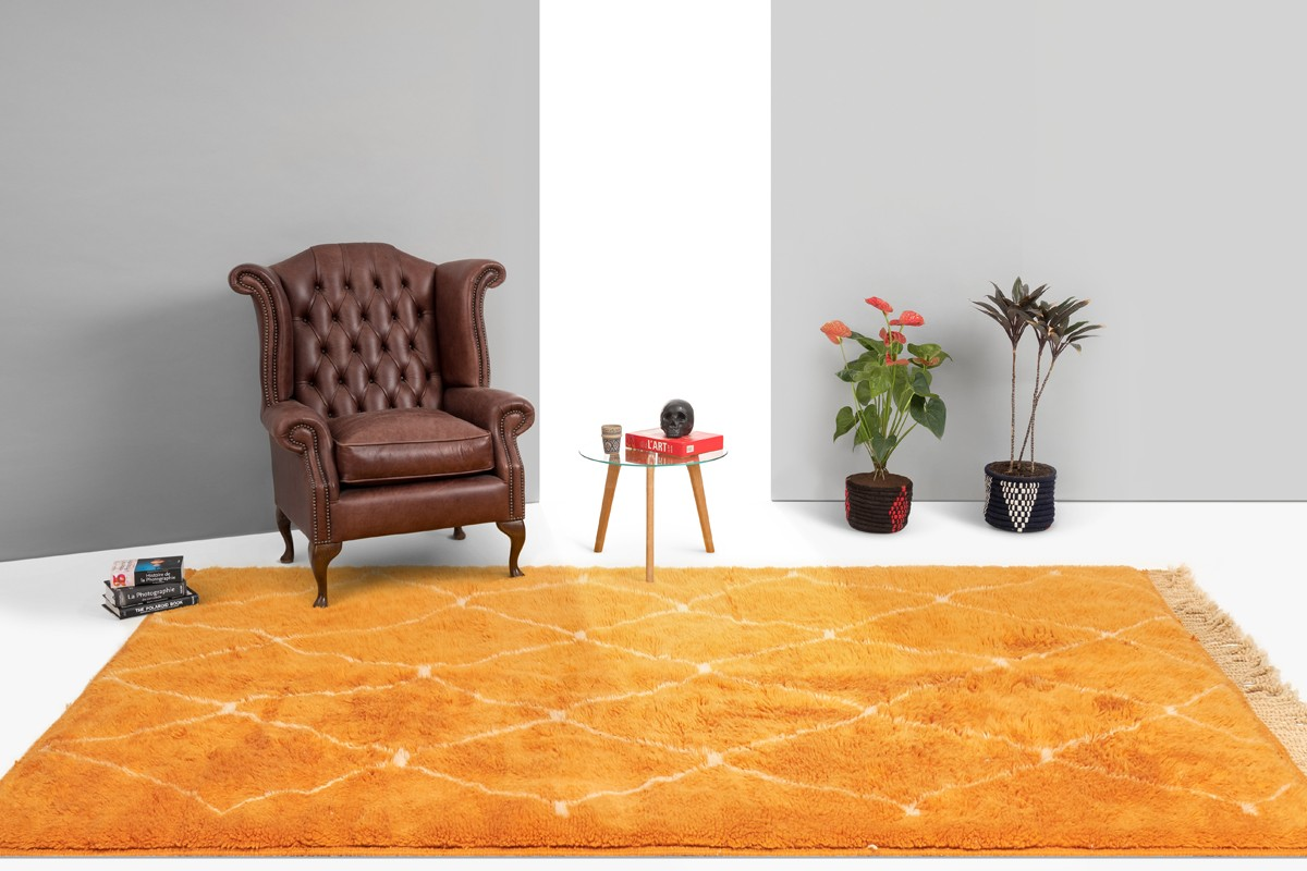 Tapis berbère orange pop