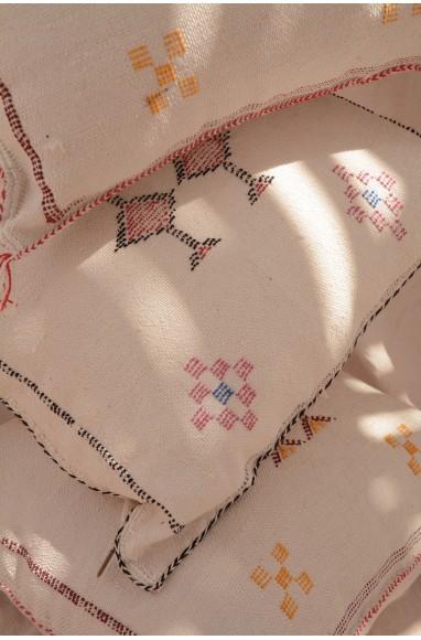 Coussin Sabra couleur blanc pur