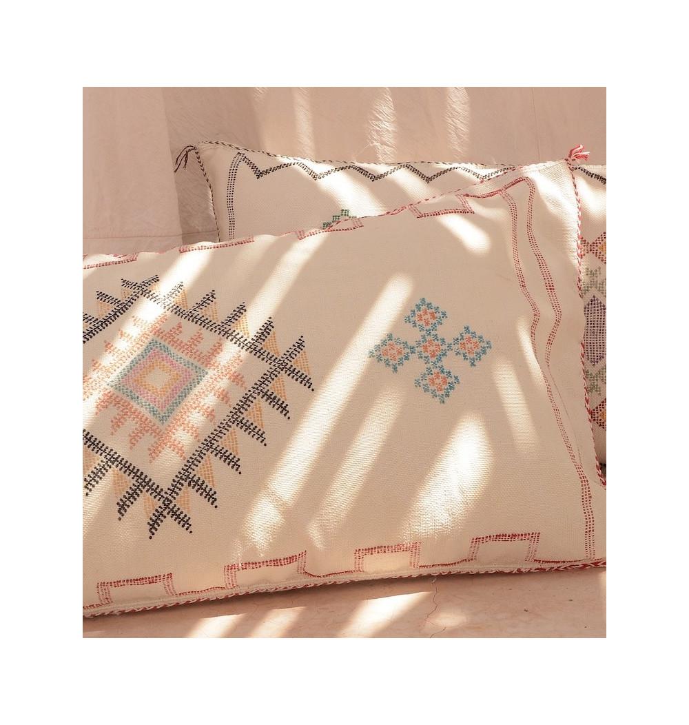 White sabra cushion