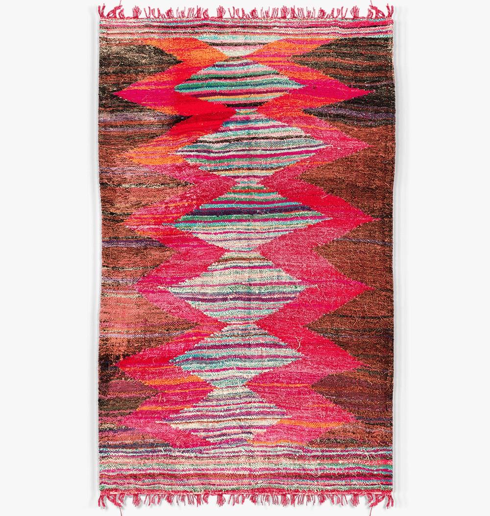 Antique style kilim pink rug