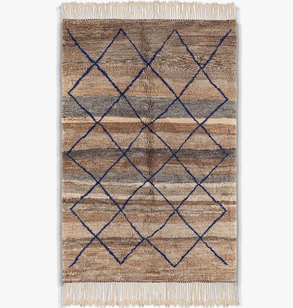 tapis berbere colorés et losanges