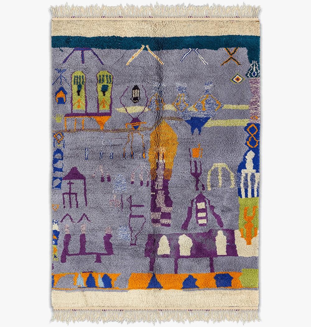 Tapis Mrirt berbère coloré Matisse